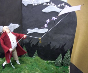 The Adventure of Electricity: an Interactive Light Diorama