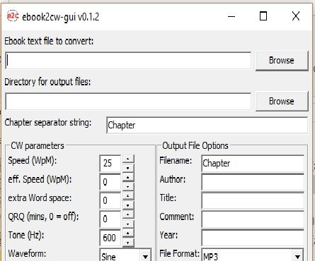 Convert Bible Text File to Morse Code MP3 File