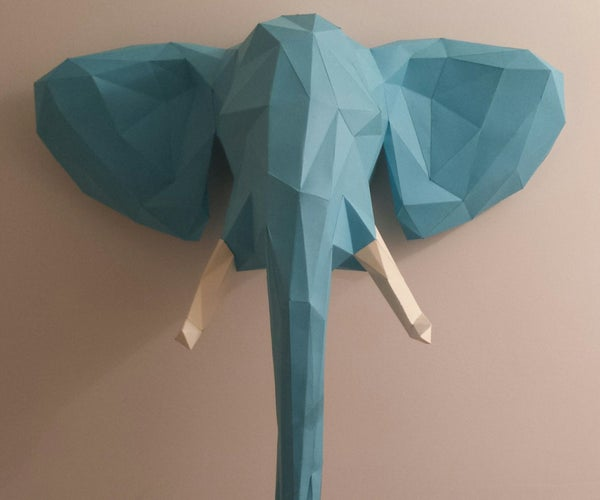 Welcome to the Jungle- Elephant Head Papercraft