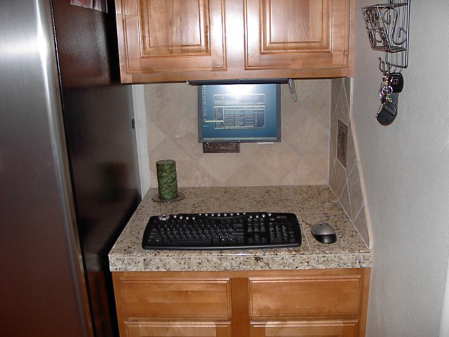 Kitchen PC with laptop twist