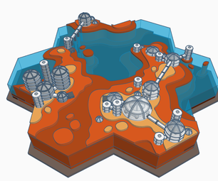 Terraforming Mars With 3 Stages | Tinkercad Scene Design