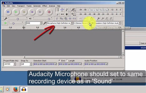 Check Audacity Recording Device