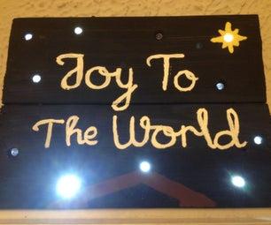 Cheap DIY Flashing LED Wooden Signs