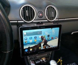 Tablet / iPad removeable car mount for $1 in 5 minutes