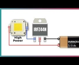 Simple LED Flasher Circuit With IRFZ44N MOSFET