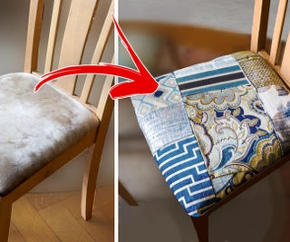 How I Turned Fabric Sample Books Into Chair Upholstery