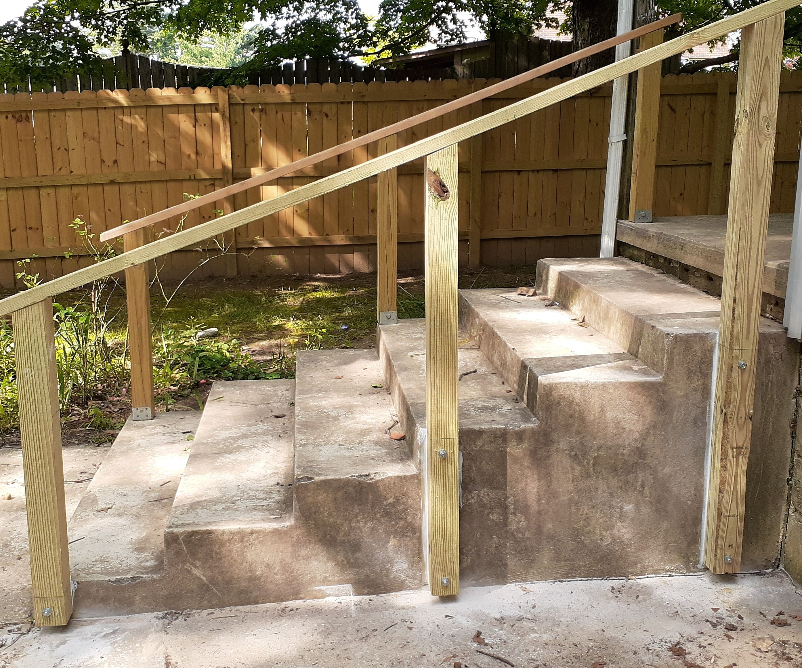 Simple Exterior Handrail for Less Than $20  20 Steps with ...