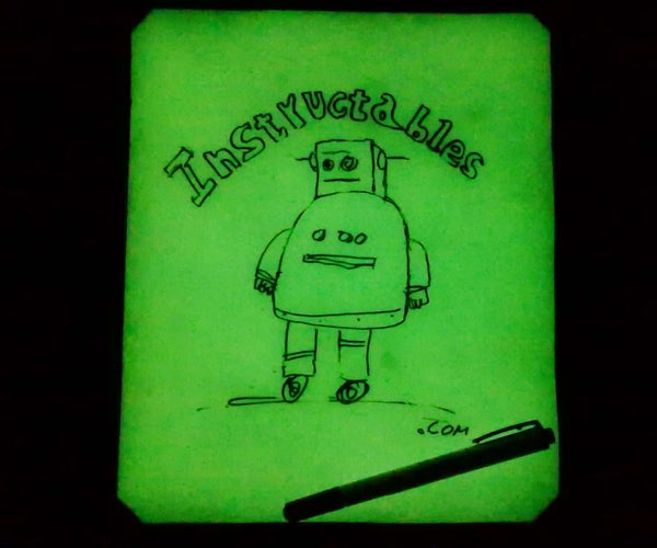 Glow in the Dark Dry-Erase Board (whiteboard)