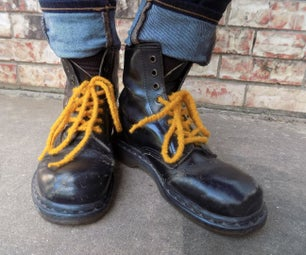 Felted Shoelaces