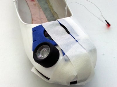 Cut and Attach Foam and Lenses