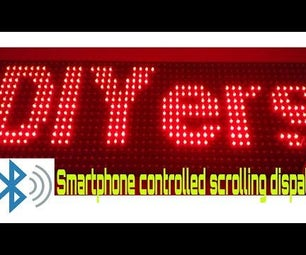 How to Make Scrolling Display Using Arduino and Bluetooth