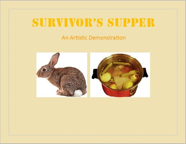 Survivor's Supper- How to Turn an Animal Into Food **WARNING GRAPHIC CONTENT**