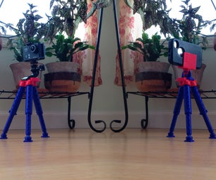3D Printed Smartphone/GoPro Tripod