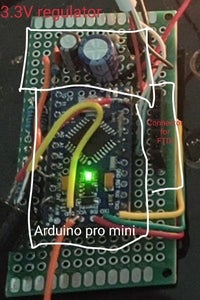 Soldering on the 3.3V Arduino Pro Mini