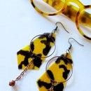 Faux Tortoise Shell Nail Polish Earrings