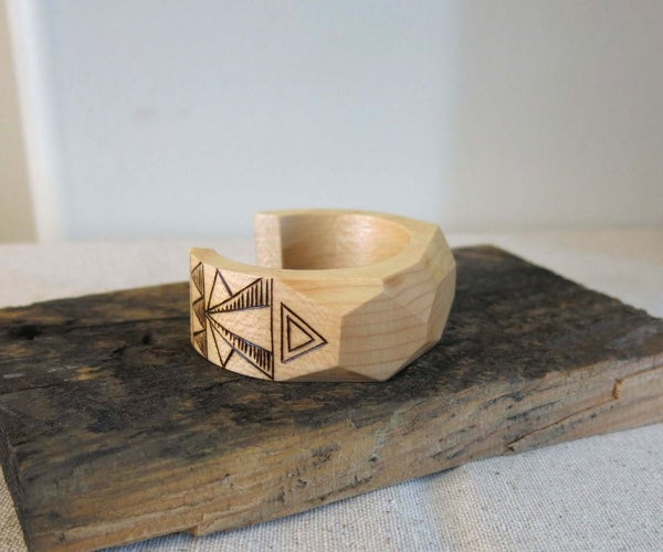 Geometric Wood Bangle DIY