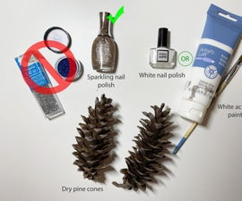 No Mess Sparkling Pine Cones