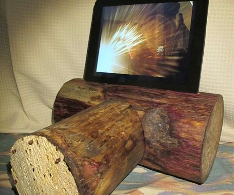VEGAN Modular iPad Stand with Bluetooth Speaker: Agave