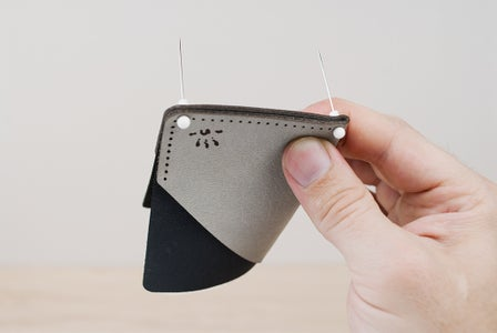 Moving the Stitching Pins and Creasing the Fold
