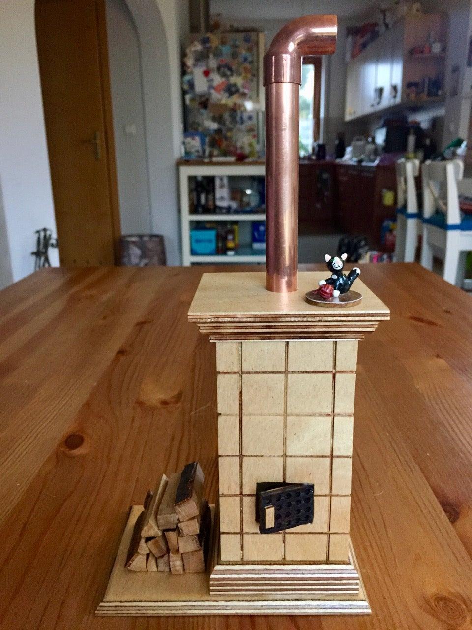 German Incense Smoker - Tiled Stove