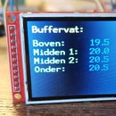 """Thermometer With Temperature Relative colour on a  2"""" TFT Display and Multiple Sensors"""