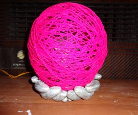 Night Lamp With Woolen Lampshade