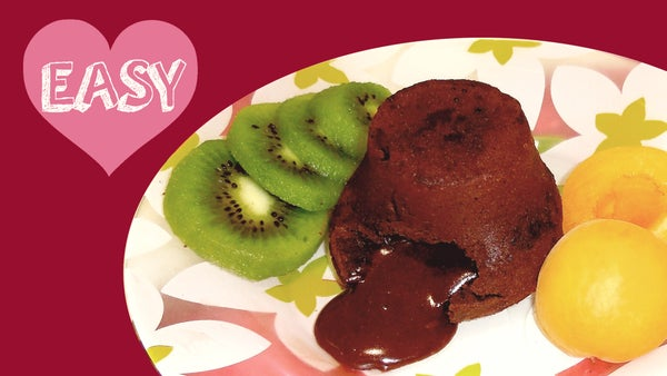 Chocolate LAVA CAKE! Easy Recipe With 5 Simple Ingredients!