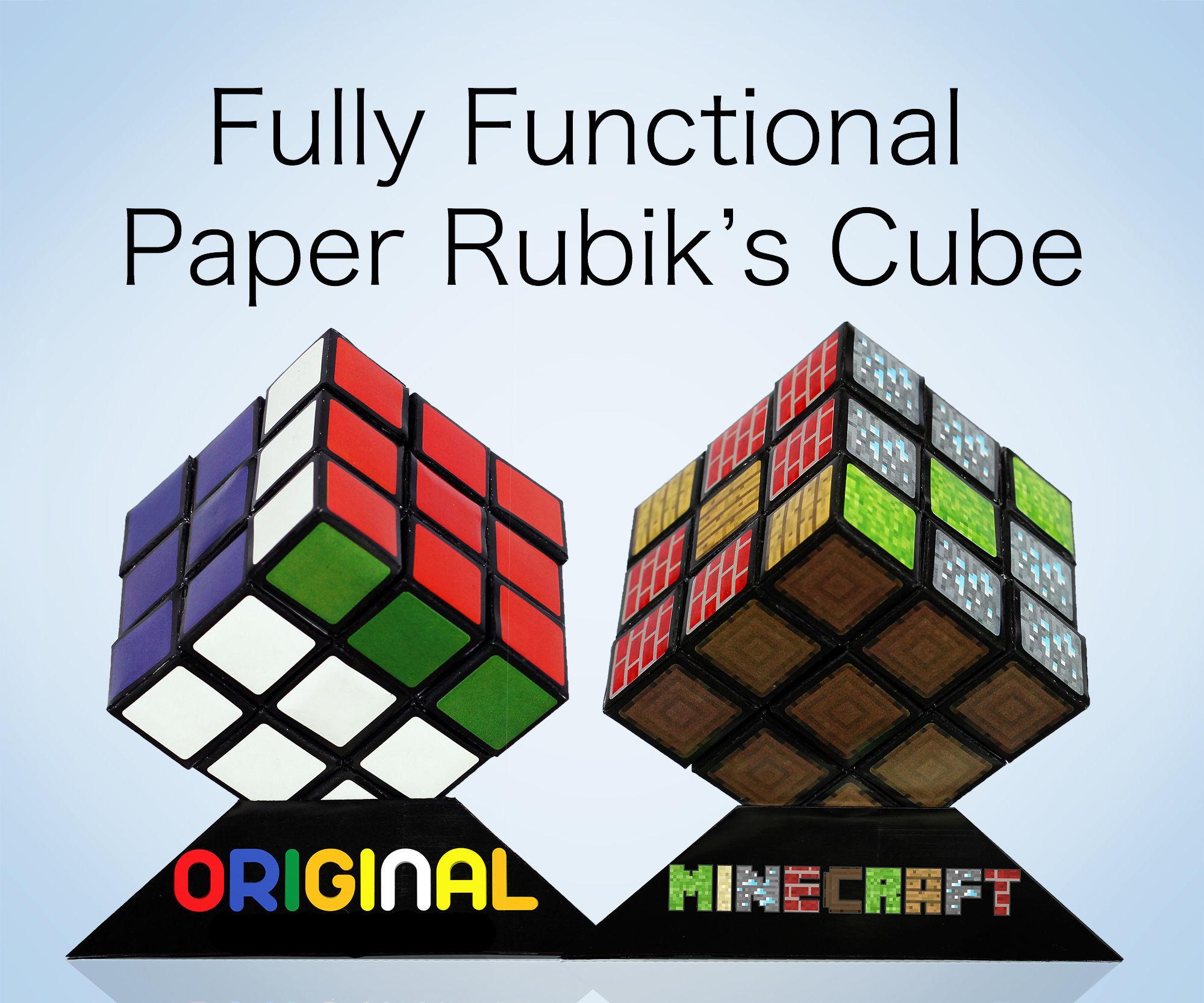 Functional Paper Rubik's Cube