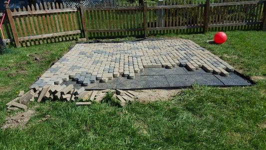 Here's the Laying of the Pavers