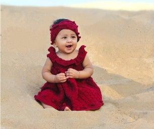 Inaara:钩针婴儿连衣裙