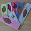 Pressed leaf bookmarks
