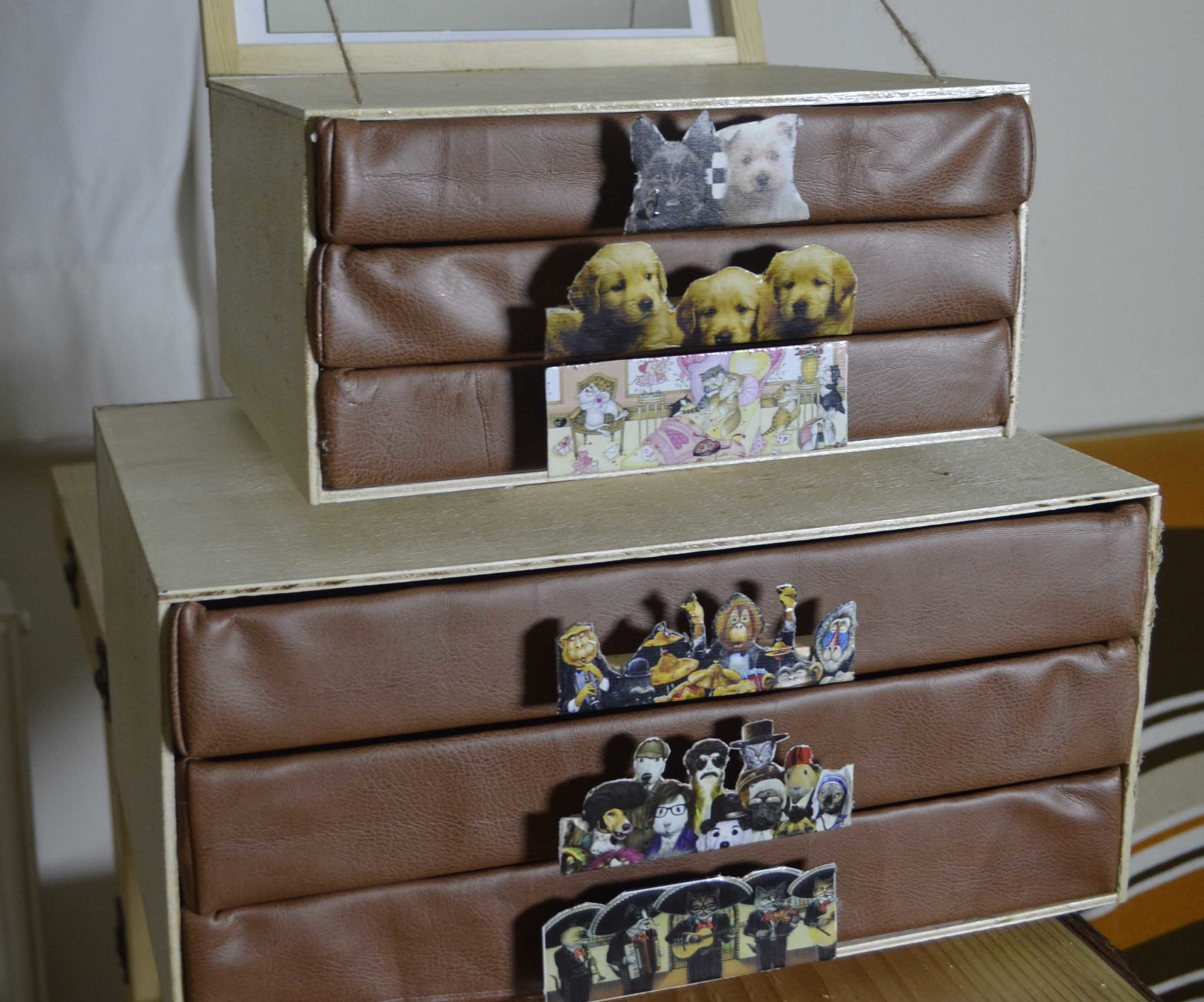 Jewelery Drawers From Puzzle Boxes