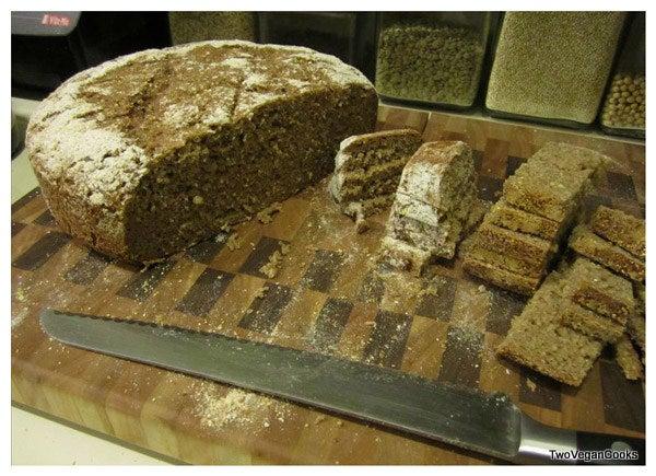 Homemade Sourdough Bread - 100% Whole Wheat