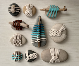 Japanese Basket Rocks (with Clay!)
