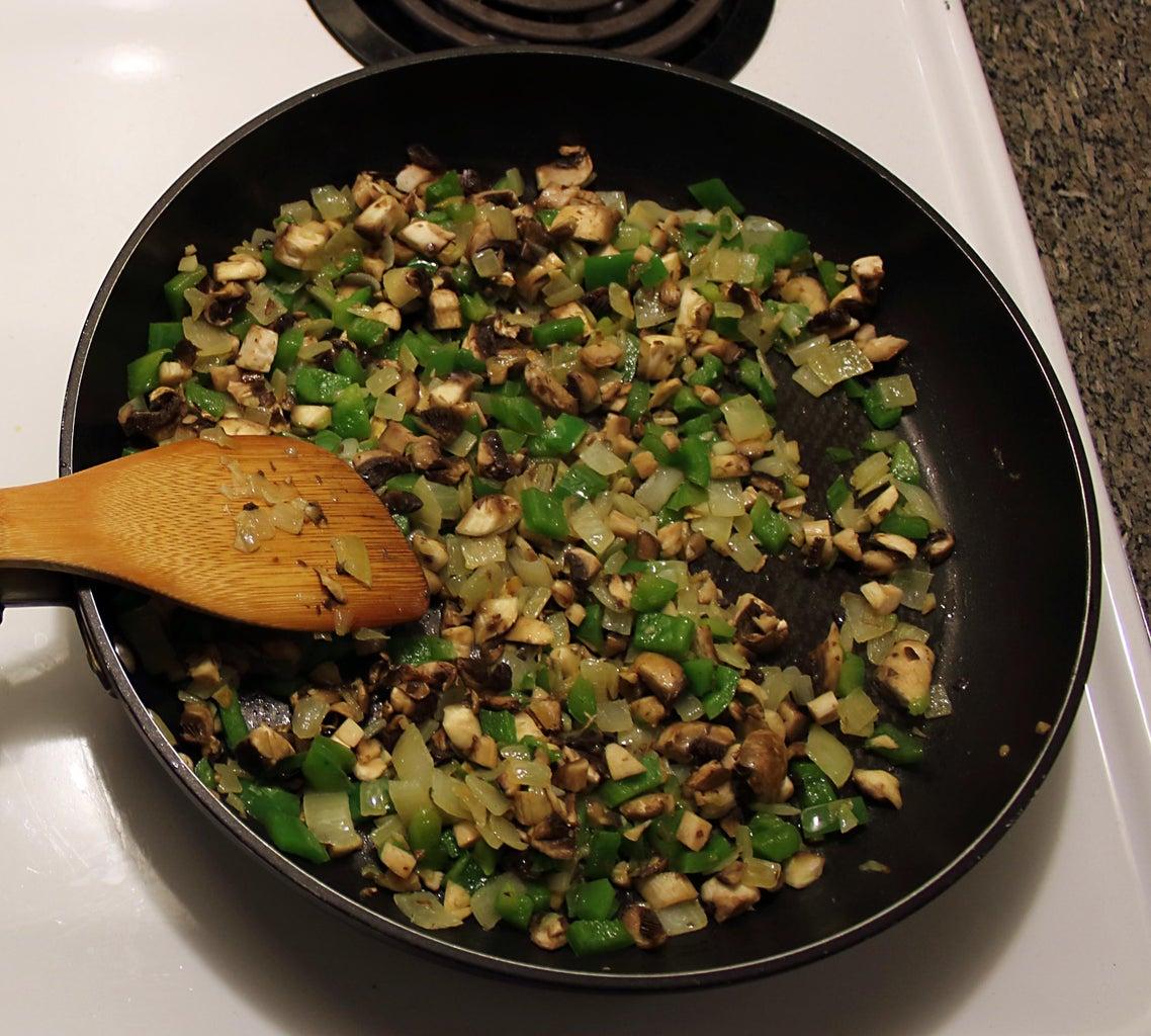 Add Diced Mushrooms to Skillet