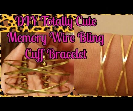 Totally Cute Memory Wire Bling Cuff Bracelet