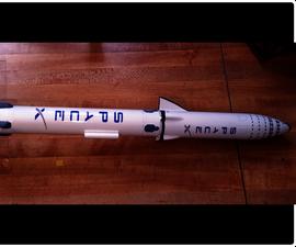 Flying Model Rocket From a 3D Scale Model