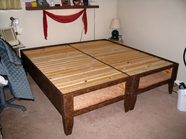 DIY Bed With Storage for Under $100