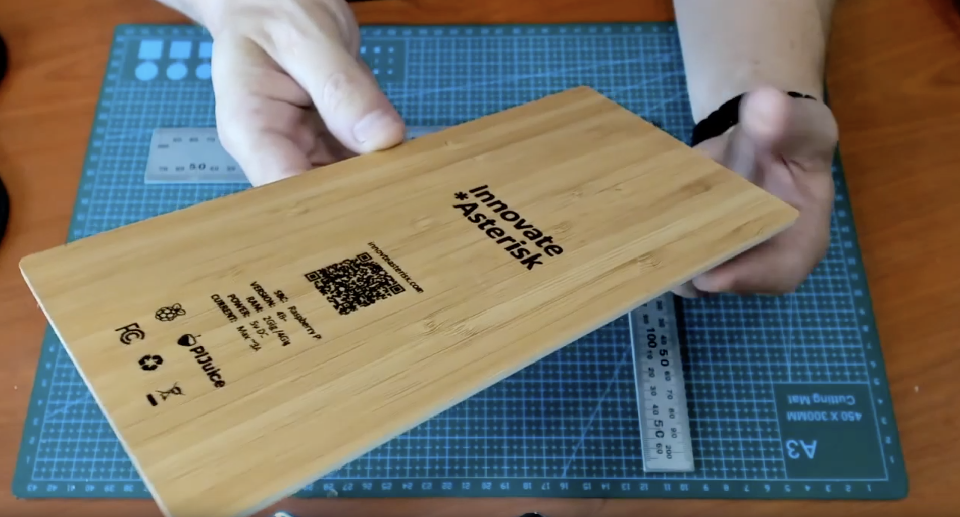 Laser Etching the Wood Backplate