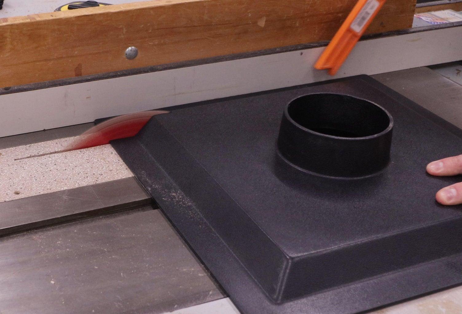 Measure Opening, Cut Dust Hood