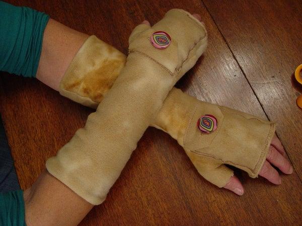 Fingerless Gloves With Handwarmer Pocket