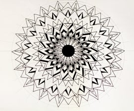 How to Draw a Simple Basic Mandala Using One Basic Shape Only