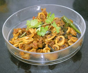 Spicy Squid Indian Style
