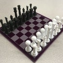 3D Printed Chess Pieces and Acrylic Chess Board