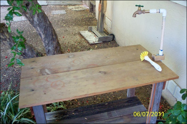 Plumb a Garden Table With Running Water!