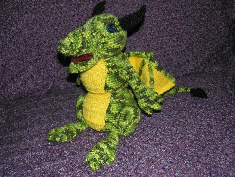 Crochet Dragon Toy