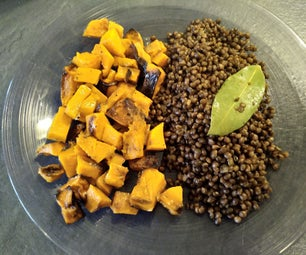 Roasted Butternut With Lentils