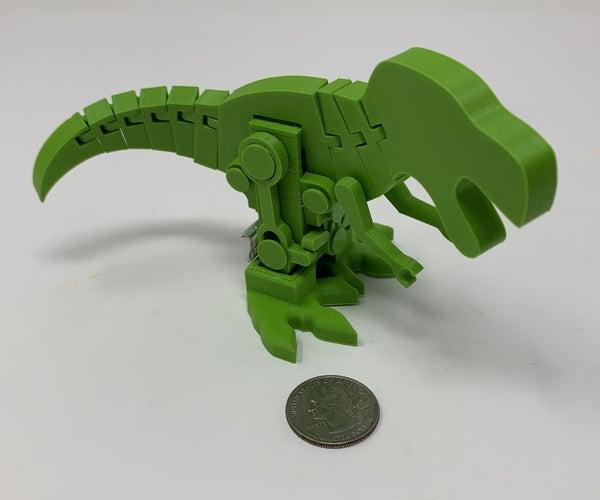 Motorized, Articulated T Rex(ish) Pin Walker