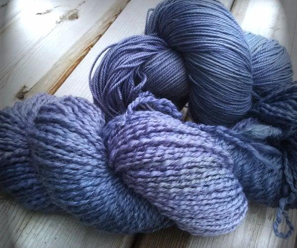 Natural Dye  - Blackberries - on Wool Yarn