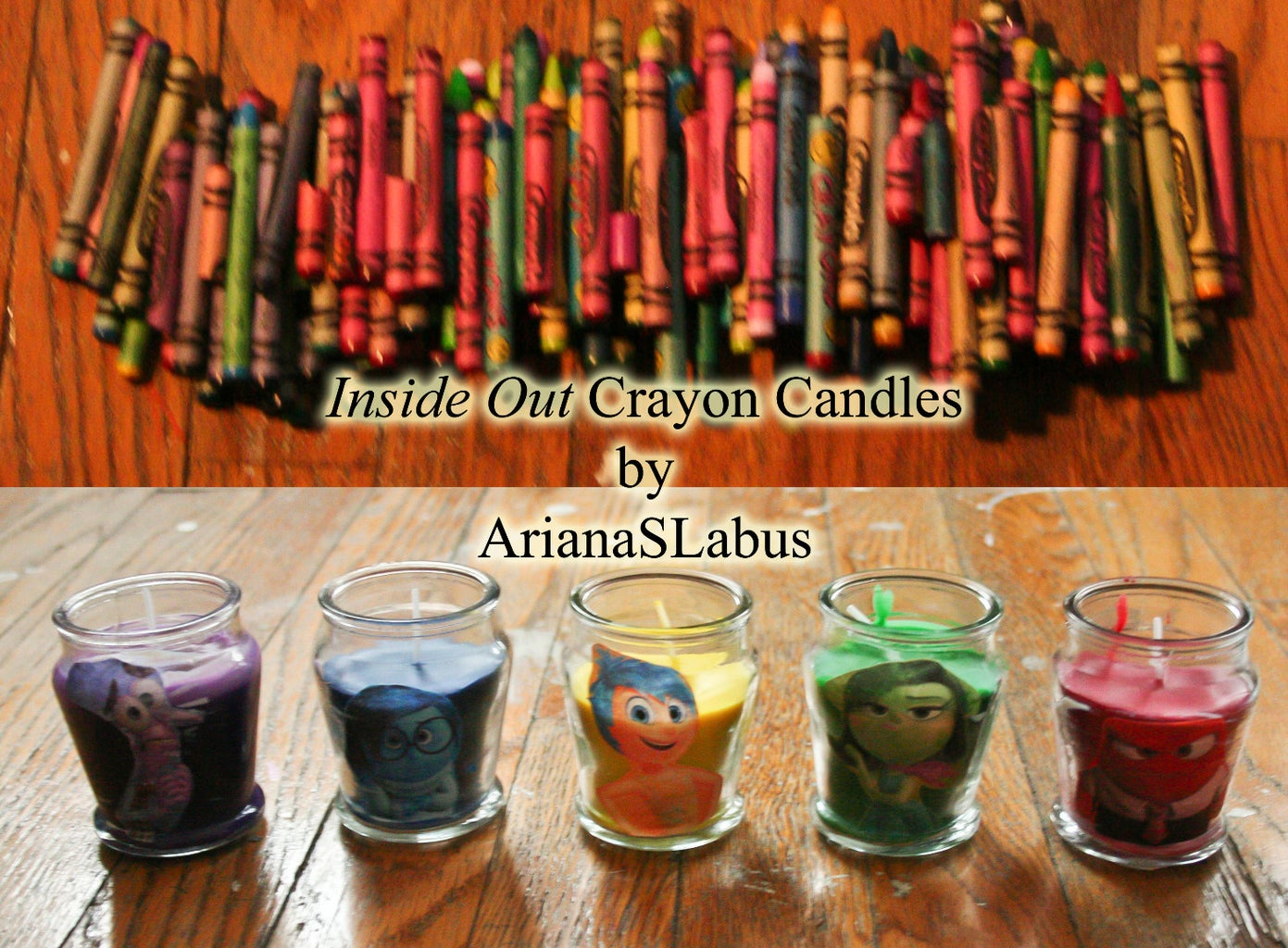 Inside Out Crayon Candles